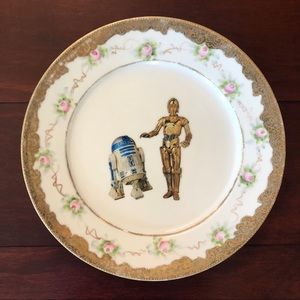 Upcycled Star Wars Floral China Plate
